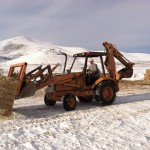 Backhoe loading up to 8 tons a day
